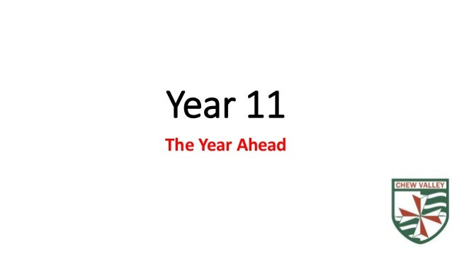 Year 11 The Year Ahead