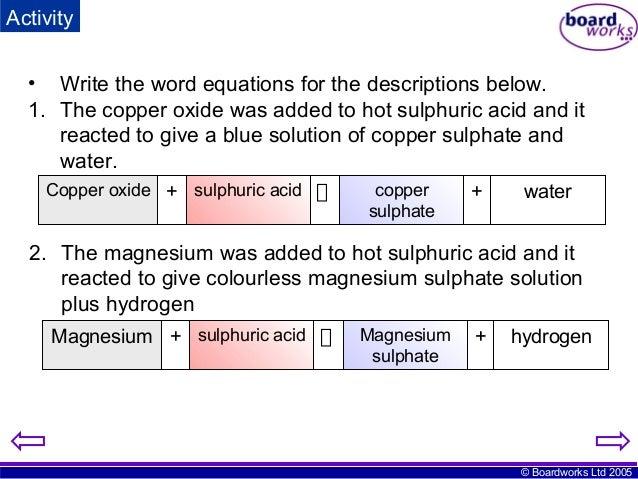Ks4 Quantitative Chemistry Boardworks