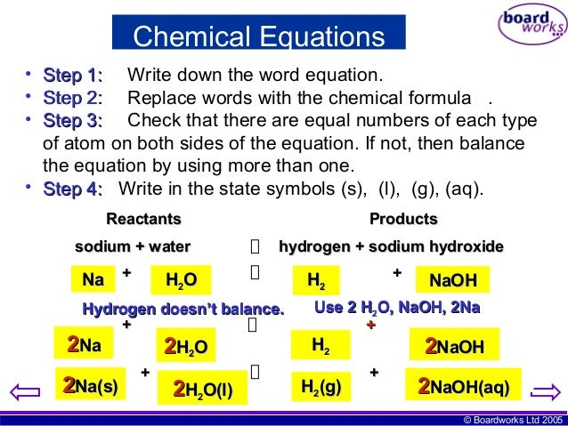 Essays on chemical equations