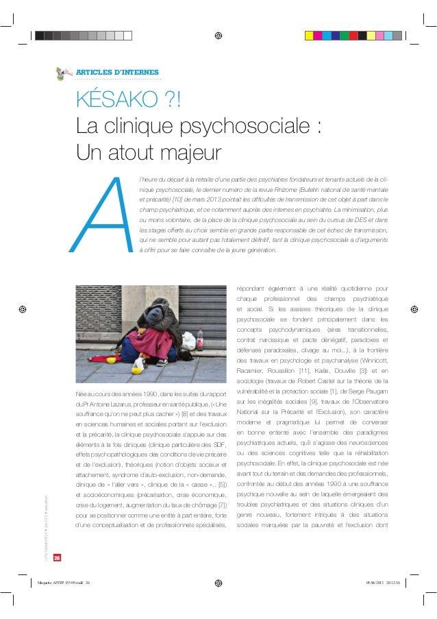 26  Le Psy Déchaîné N°09 ‡Juin 2013 ‡www.affep.fr  ARTICLES D'INTERNES  ,²4,0   -BDMJOJRVFQTZDIPTPDJBMFø  6OBUPVUNBKFVS  A...