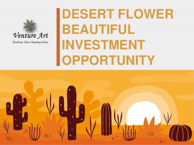 DESERT FLOWER BEAUTIFUL INVESTMENT OPPORTUNITY