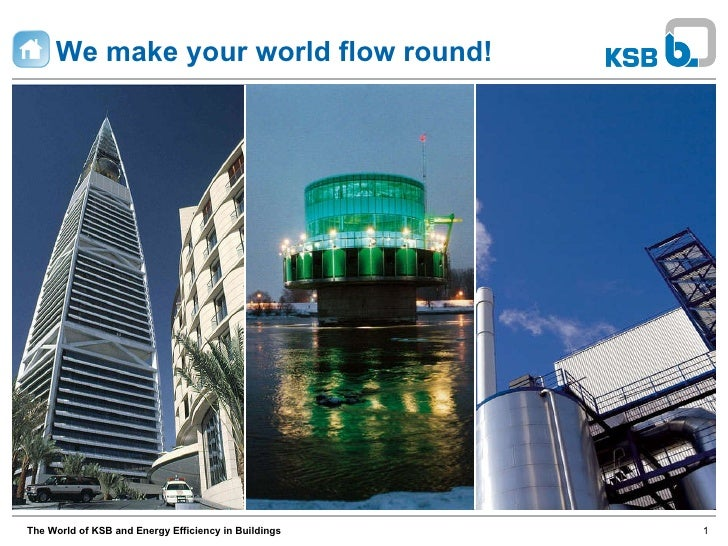 We make your world flow round! The World of KSB and Energy Efficiency in Buildings