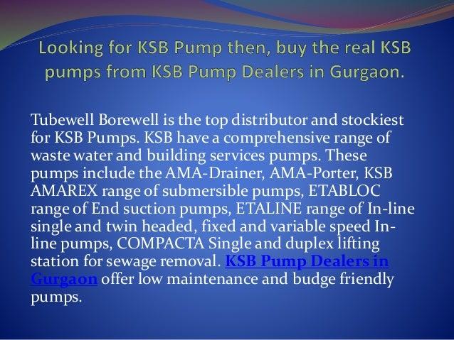 Ksb pump dealers in gurgaon