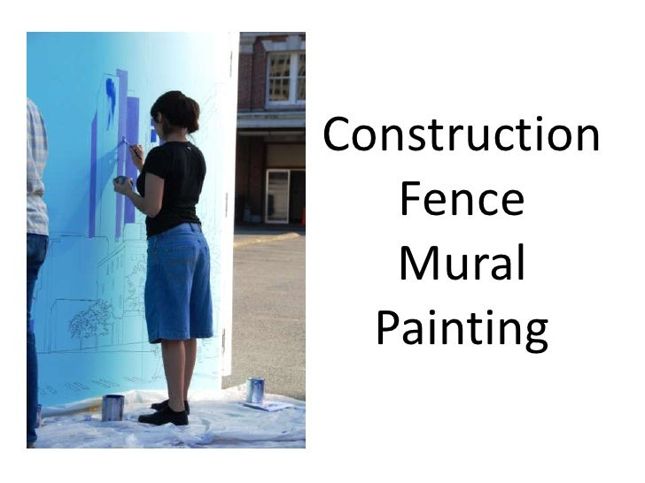 Construction Fence Mural Painting<br />
