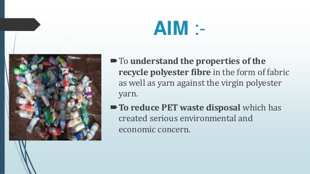 Recycling of PET waste bottle to textile valuable product
