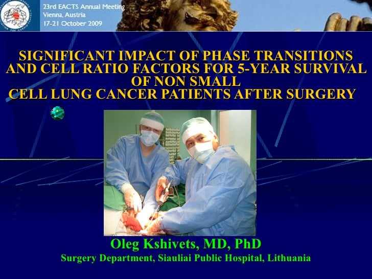Kshivets O. Lung Cancer Surgery: Synergetics and Prediction