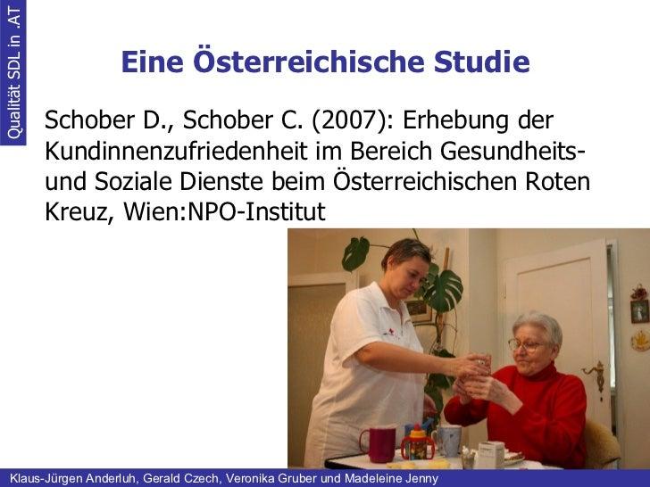 Eine Österreichische Studie Qualität SDL in .AT Klaus-Jürgen Anderluh, Gerald Czech, Veronika Gruber und Madeleine Jenny S...