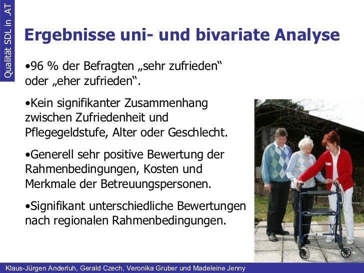 Ergebnisse uni- und bivariate Analyse Qualität SDL in .AT Klaus-Jürgen Anderluh, Gerald Czech, Veronika Gruber und Madelei...