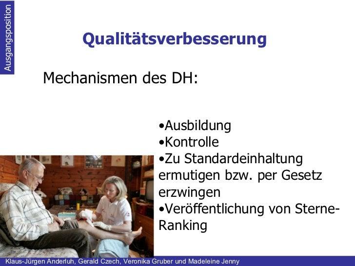 Qualitätsverbesserung Ausgangsposition Klaus-Jürgen Anderluh, Gerald Czech, Veronika Gruber und Madeleine Jenny  Mechanis...