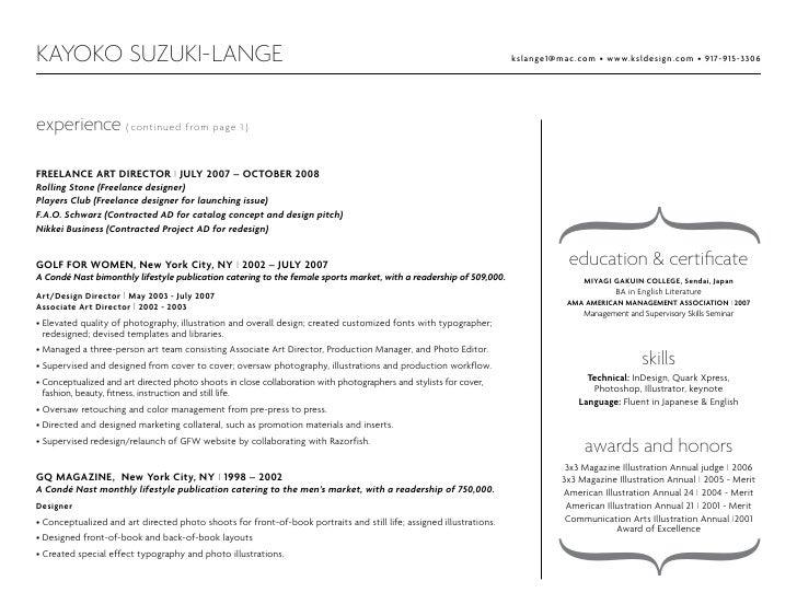 graphic design portfolio resume