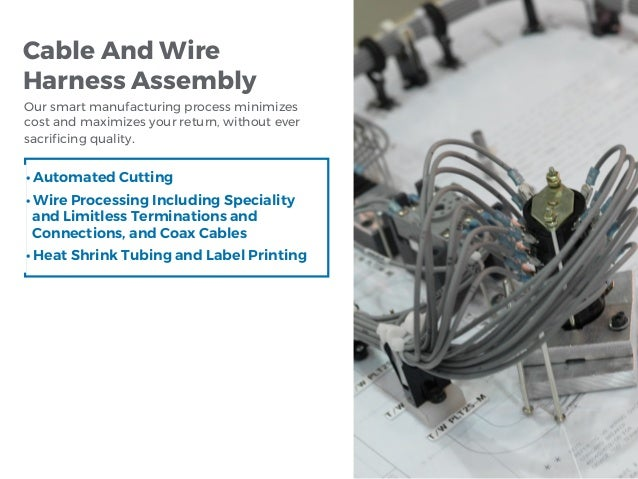 Cable And Wire Harness Assembly Our smart manufacturing process minimizes cost and maximizes your return, without ever sac...