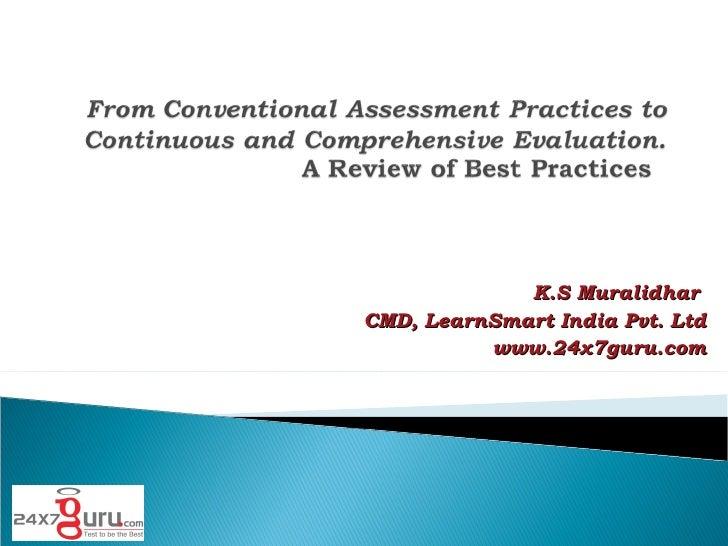 K.S Muralidhar  CMD, LearnSmart India Pvt. Ltd www.24x7guru.com
