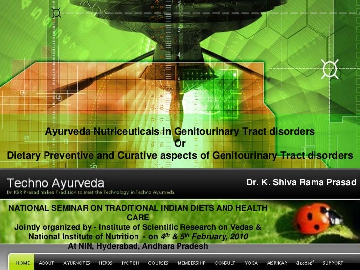 Ayurveda Nutriceuticals in Genitourinary Tract disorders                                   OrDietary Preventive and Curati...