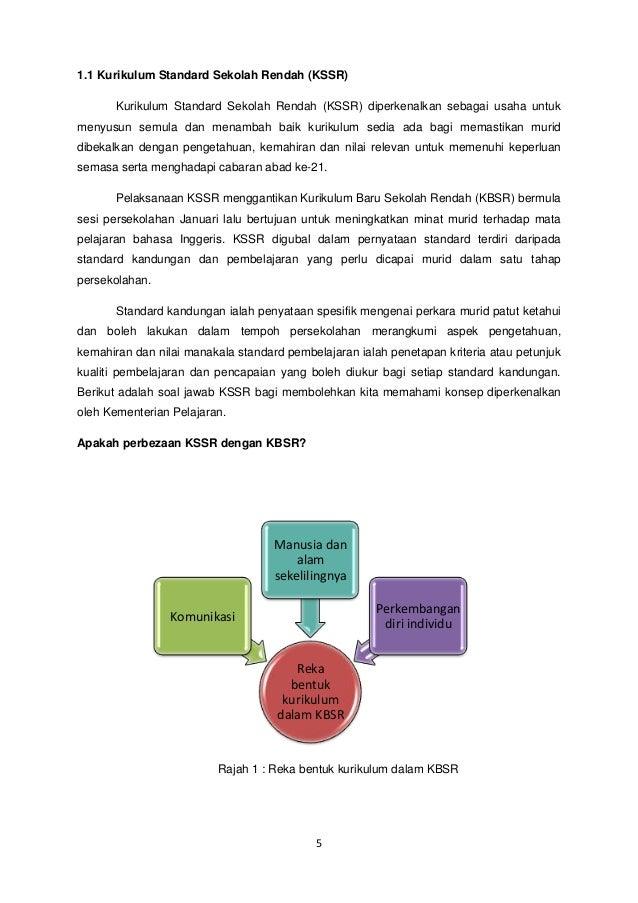 1.1 Kurikulum Standard Sekolah Rendah (KSSR) Kurikulum Standard Sekolah Rendah (KSSR) diperkenalkan sebagai usaha untuk me...