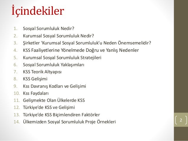 Kurumsal Sosyal Sorumluluk ve Türkiye Örneği Slide 2