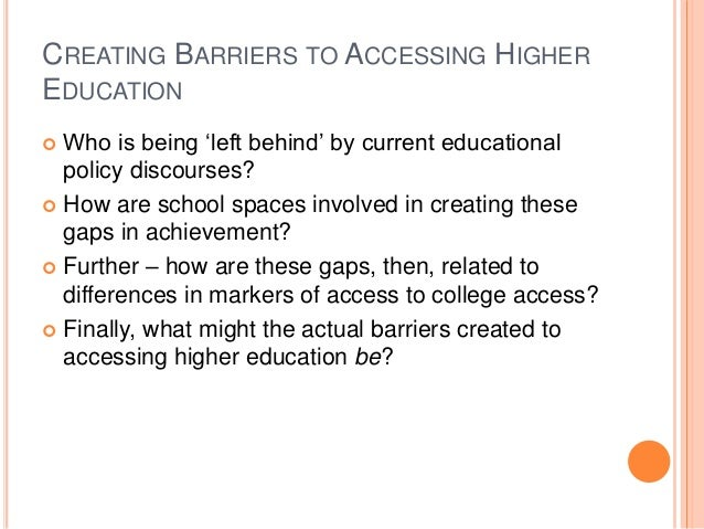 Diversity Issues in Higher Education: Hispanic/LatinX Barriers