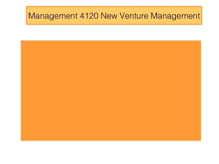 Management 4120 New Venture Management