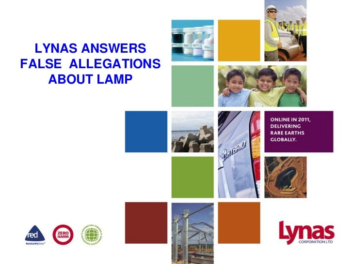 LYNAS ANSWERSFALSE ALLEGATIONS    ABOUT LAMP