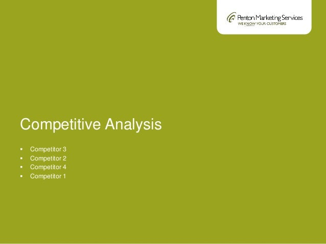 Sample Competitive Analysis. Competitive Analysis Worksheet