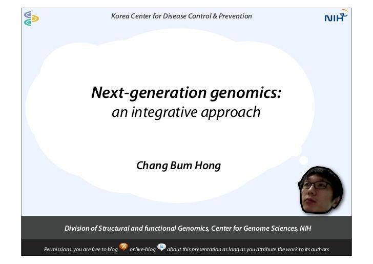 Korea Center for Disease Control & Prevention                     Next-generation genomics:                              a...