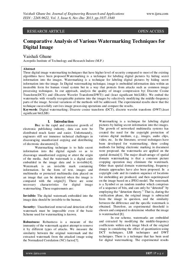 Vaishali Ghune Int. Journal of Engineering Research and Applications ISSN : 2248-9622, Vol. 3, Issue 6, Nov-Dec 2013, pp.1...