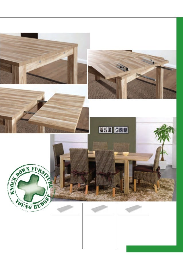 Dining tables with extensions only possible with table type A and type T and basic tables 127127 Basic table models: Delhi...