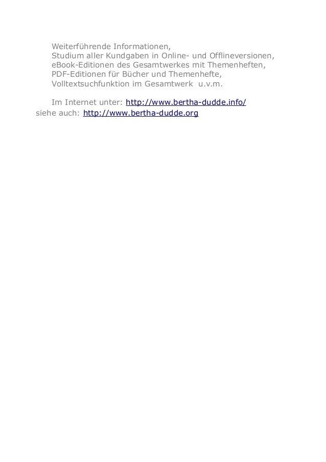 Weiterführende Informationen, Studium aller Kundgaben in Online- und Offlineversionen, eBook-Editionen des Gesamtwerkes mi...