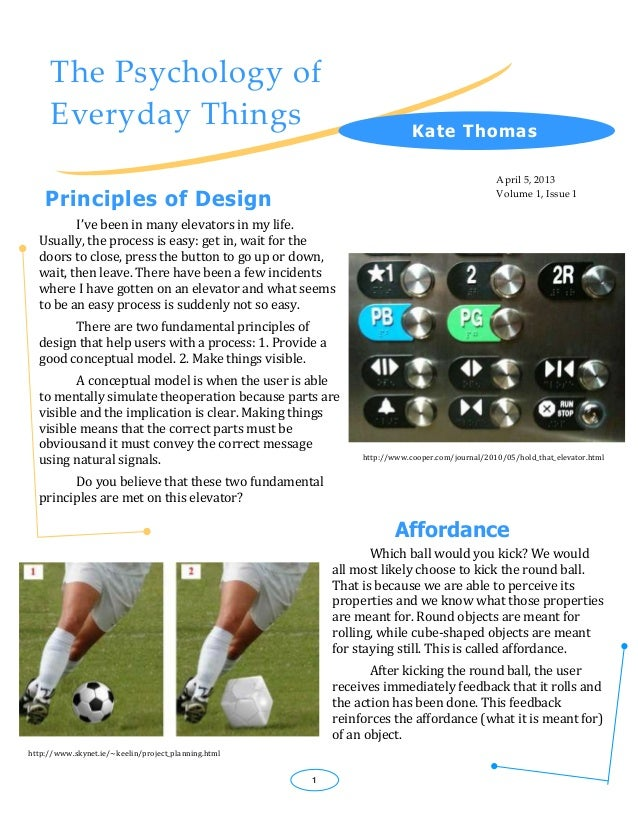 The Psychology of     Everyday Things                                                      K ate Thomas                   ...