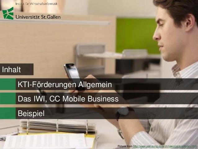 Kti förderung mit dem cc mobile business Slide 2