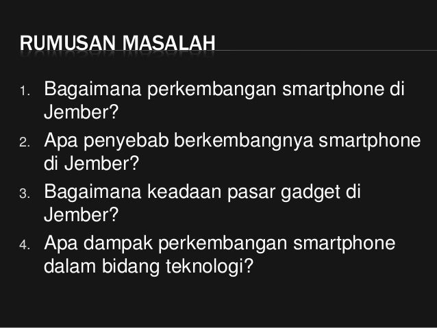 KTI   Perkembangan Smartphone di Jember Slide 3