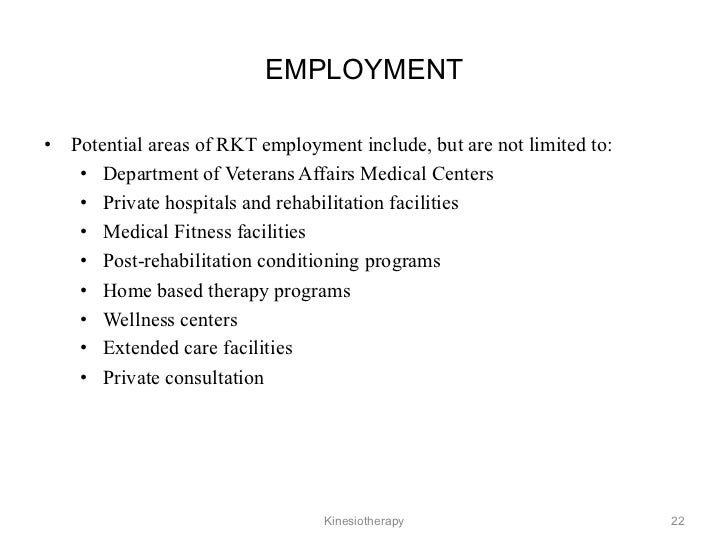 Kineseotherapy history employment yadclub Gallery