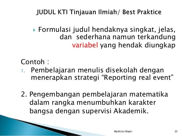 Kti Tinj Ilmiah Best Practice