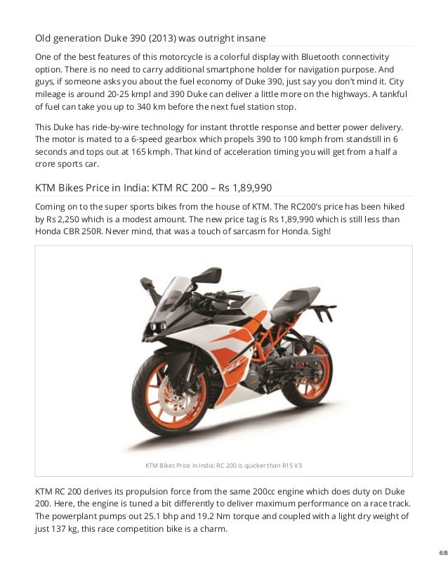 Ktm bikes price in india for fy 2019 2020 pick the one which