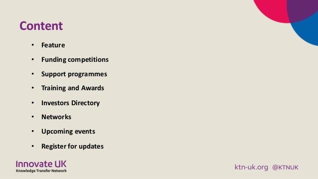KTN Digital and Creative Business Briefing August 2019 Slide 2
