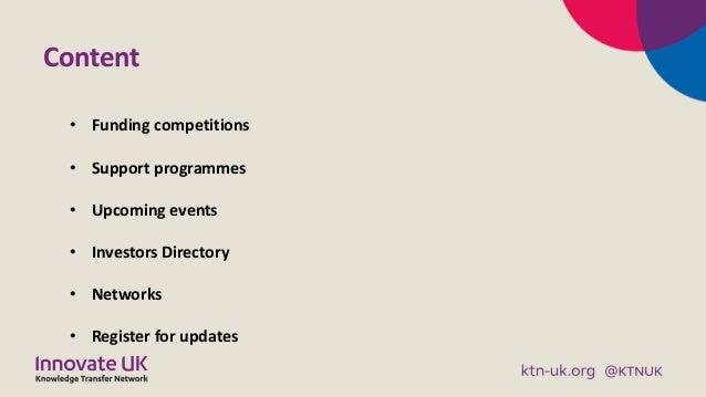 KTN Digital and Creative Business Briefing November 2019 Slide 2