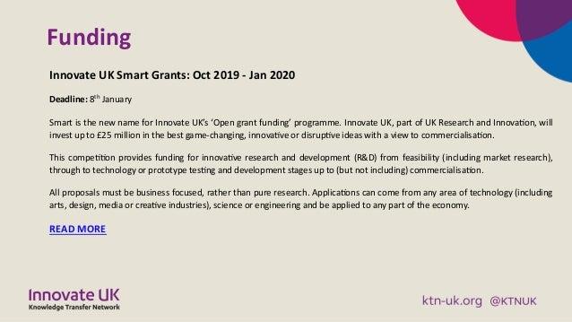 KTN Digital and Creative Business Briefing November 2019 Slide 3