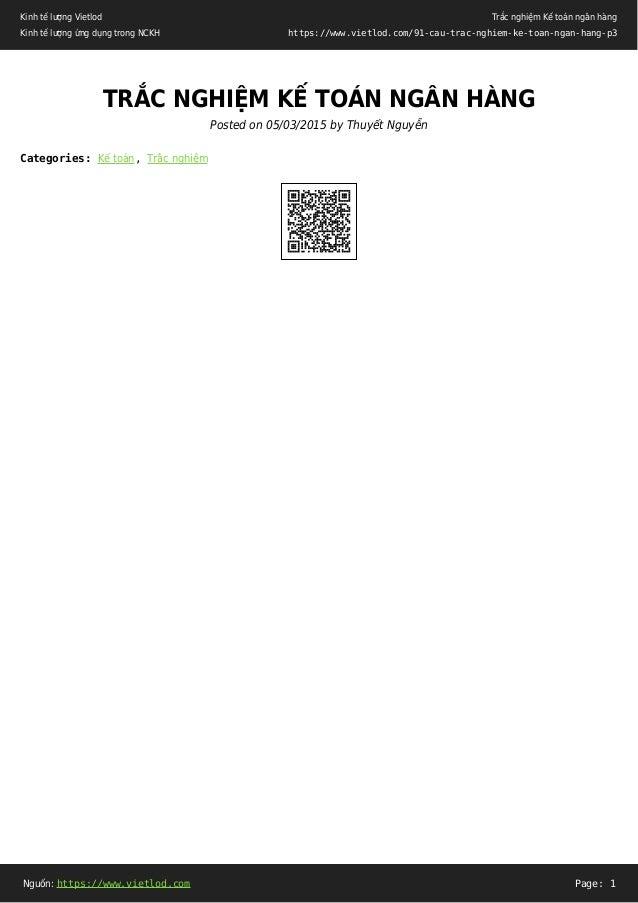 Kinh tế lượng Vietlod Kinh tế lượng ứng dụng trong NCKH Trắc nghiệm Kế toán ngân hàng https://www.vietlod.com/91-cau-trac-...