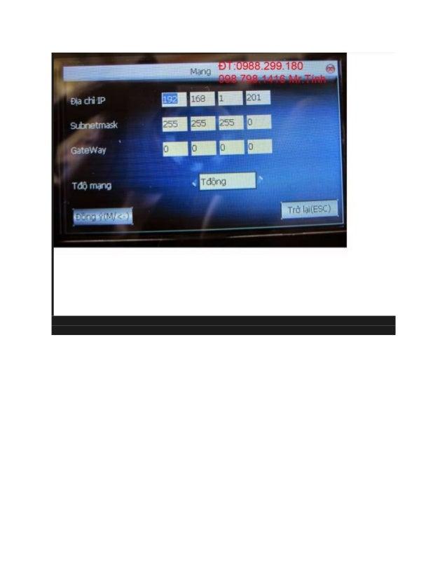 Sửa Phần Mềm Chấm Công Mitaco 5v2 Slide 2