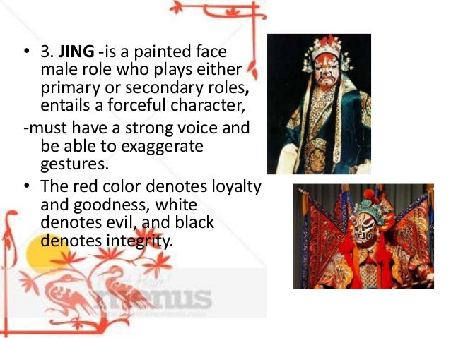 """4. CHOU -is a male clown role. -usually plays secondary roles whose name also means """"ugly"""" -it reflects the traditional be..."""