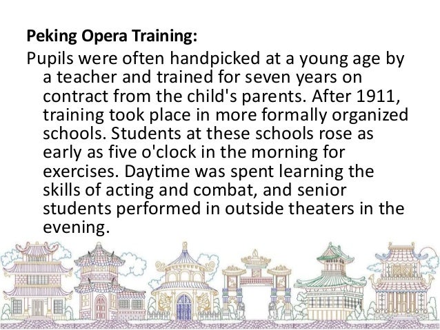 Roles and Characters: 1. Sheng- is the main male role in Peking opera