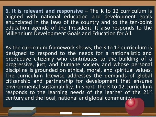 which philosophies of education is the k 12 curriculum anchored