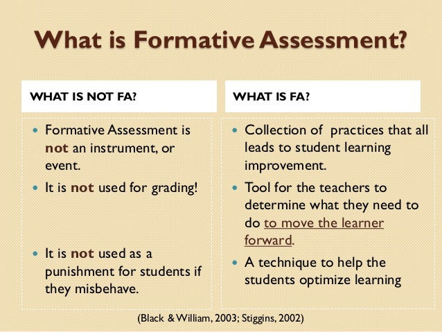 Assessment Principles; 11. What Is Formative Assessment?