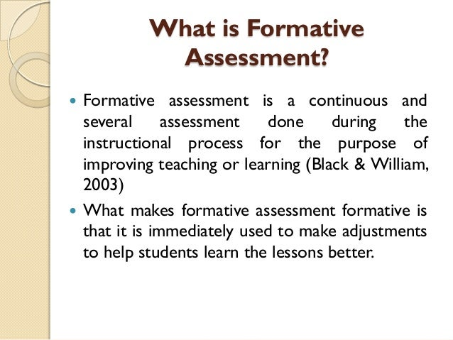 High Quality What Is Formative Assessment?