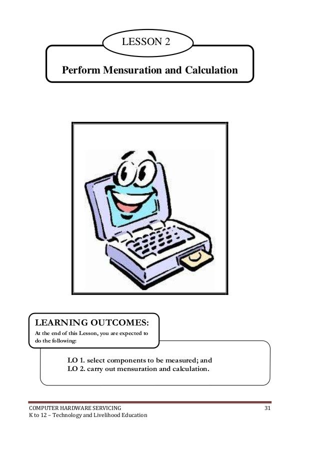 computer hardware servicing k 12 pdf