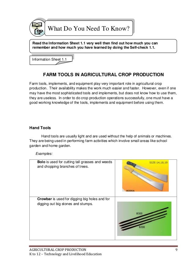 K To 12 Crop Production Learning Modules