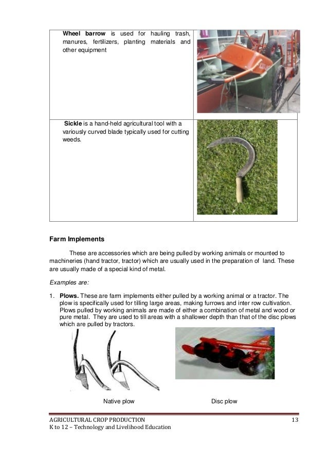 farm tools in agricultural crop production Ffbs toolkit 21 activities during the agricultural season 29 2 agricultural tools  a farm for the fbbs  even if he/she suffers loss in production due to.