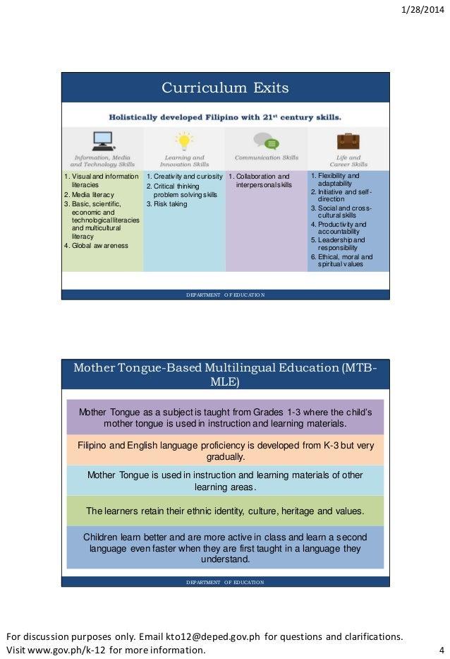 Curricula of philippine schools