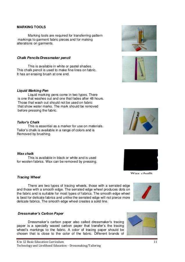 Dressmaking Learning Module K 12