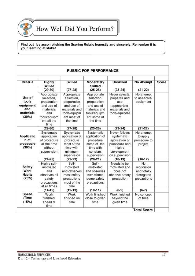 sample criteria for research paper