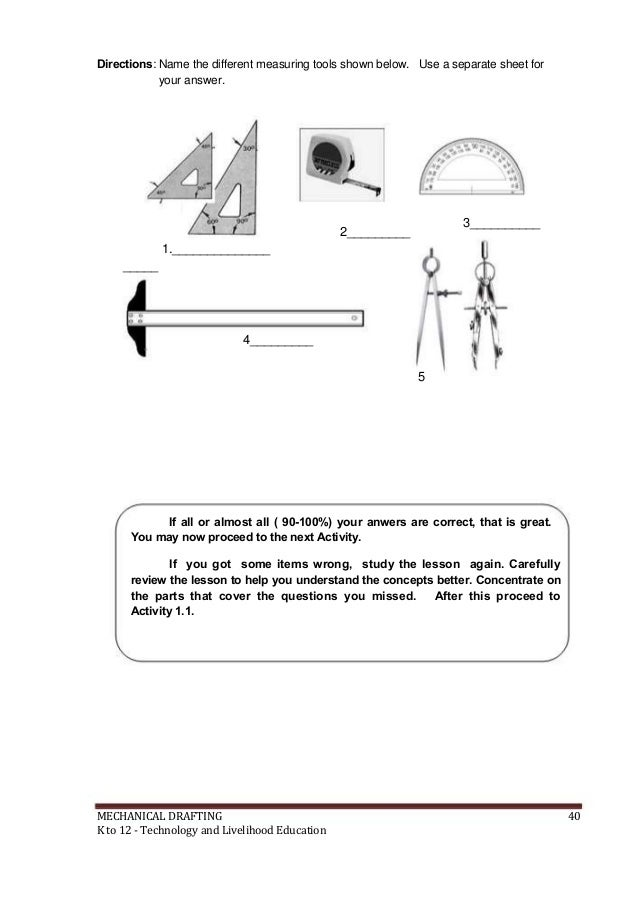 livelihood education 41 directions name the different measuring tools - Online Drawing Tool With Measurements